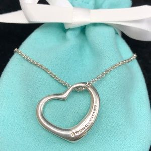 TC186 Silver Open Heart Necklace Peretti Pendant